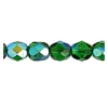 Fire Polished 6mm Transparent Green Aurora Borealis